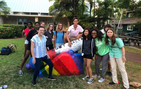 The RE Gender & Sexuality Association painted the cannon in honor of LGBT History Month.