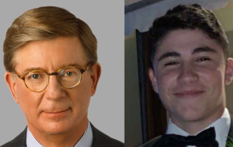 George Will (Left) and James Srebnick '21 (Right)