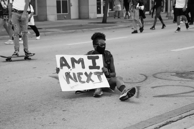 "Activist poses the question ""AM I NEXT"""