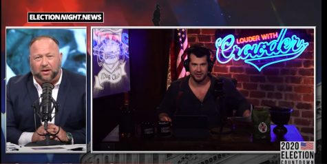 Screenshot taken during the Louder with Crowder live stream.