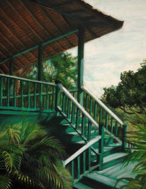 Pagoda, Erin Wolfe, Oil on Canvas, 2010