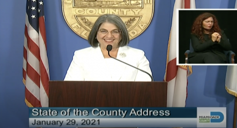 "Mayor Levine Cava gives her ""State of the County"" address on January 29, 2021."