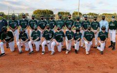 The 2021 RE Baseball lineup, including seniors Pablo Ocariz (22), James Srebnick (18), Chris Basile (14), Emmet Gershman (6), and Jake Martin (17)