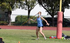 Mia Balestra '21 competes in the javelin competition.