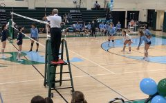 Girls Varsity Volleyball triumphs over Carrollton on RE Senior Night