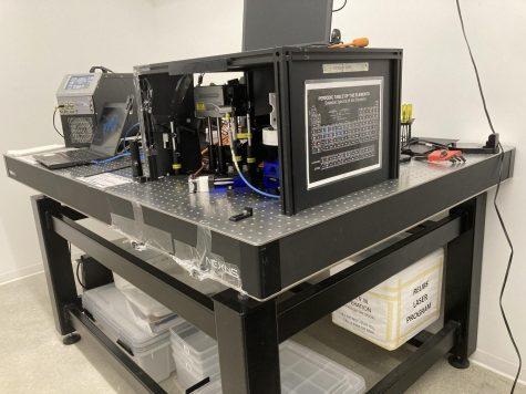 YREPs spectroscopy laser, housed in the STEM building.