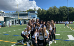The Dance Team celebrating after a recent pep rally.